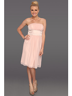 SALE! $39.99 - Save $138 on Donna Morgan Satin Chiffon Strapless Dress (Ballet Slippers Pearl) Apparel - 77.53% OFF $178.00