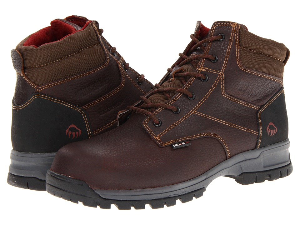 Wolverine - Joliet Peak AG Waterproof 6 Boot Composite Toe (Brown) Men