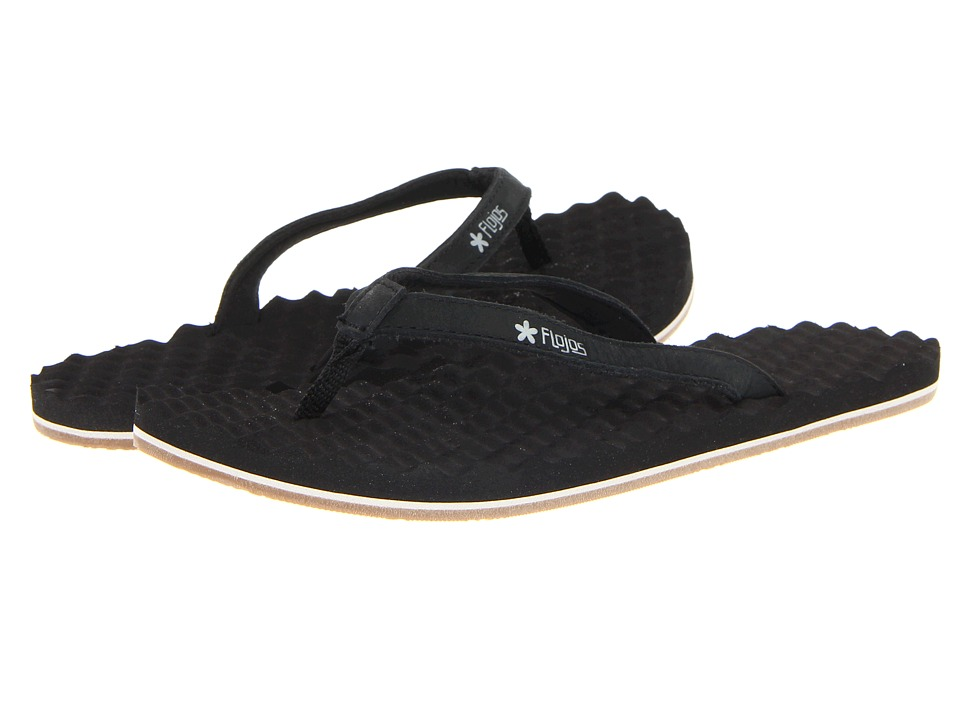 Flojos - Flora (Black/Grey) Women's Sandals