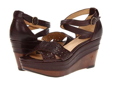 Frye - Carlie Perf (Dark Brown Vintage Veg Tan) Women's Sandals