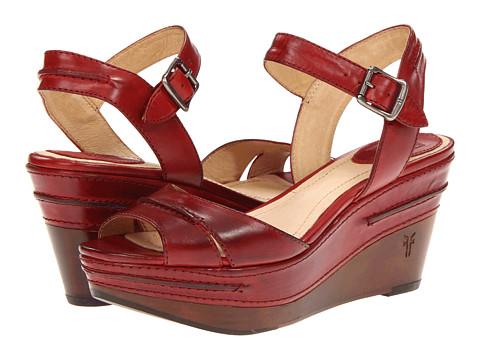 Frye - Carlie Seam (Burnt Red Smooth Full Grain) Women's Sandals