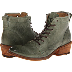 Frye Carson Lace Up (Green Antique Soft Vintage Full Grain) Footwear