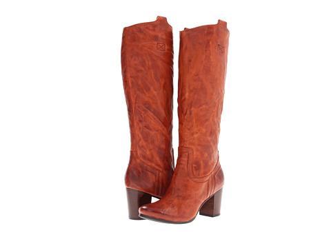 Frye - Carson Mid Heel Tab (Cognac Antique Soft Vintage Full Grain) Cowboy Boots