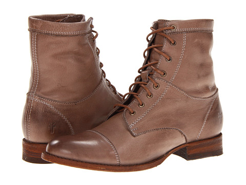 Frye - Erin Workboot (Grey Soft Vintage Leather) Women's Lace-up Boots