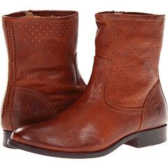 Frye Melissa Perf Bootie (Whiskey Vintage Veg Tan) Footwear