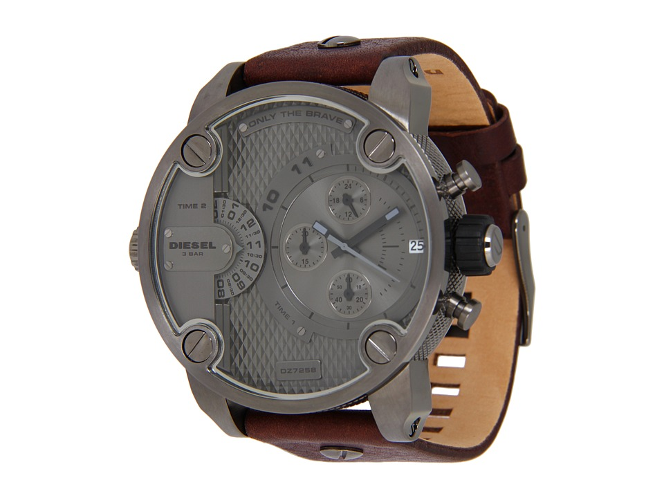 Diesel - Little Daddy DZ7258 (Grey/Brown) Chronograph Watches