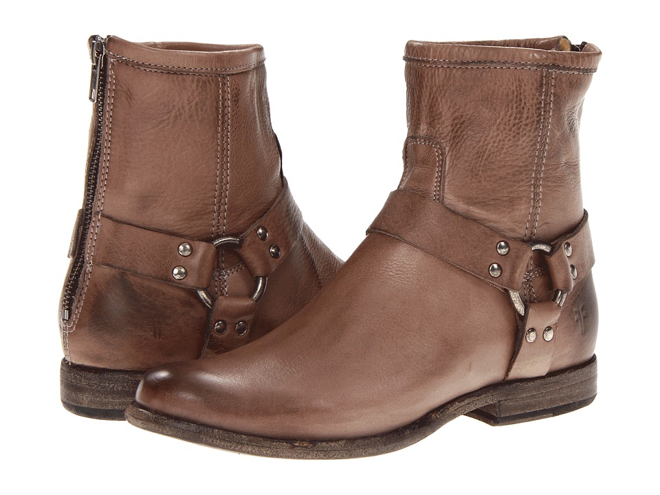 Frye - Phillip Harness (Grey Soft Vintage Leather) Women's Pull-on Boots