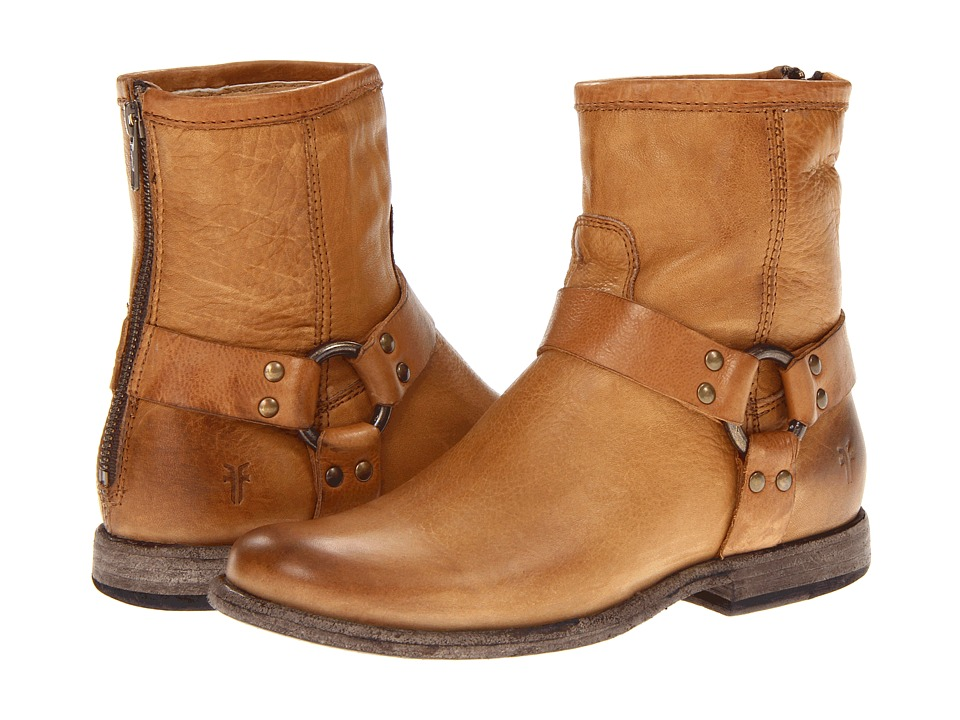 Frye - Phillip Harness (Camel Soft Vintage Leather) Women's Pull-on Boots