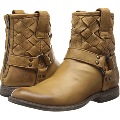 Frye Phillip Woven Harness (Camel Soft Vintage Leather) Footwear