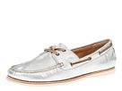Frye - Quincy Boat Shoe (Silver Metallic Leather) - Footwear