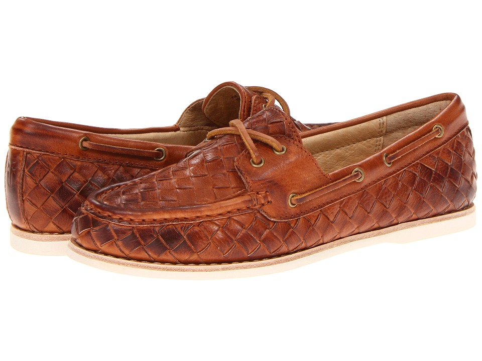 Frye - Quincy Soft Weave Boat (Whiskey Soft Vintage Leather) Women