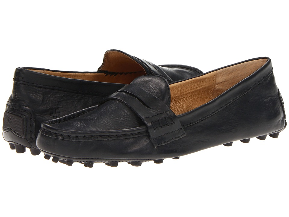Frye - Rebecca Penny (Black Soft Vintage Leather) Women's Slip on Shoes