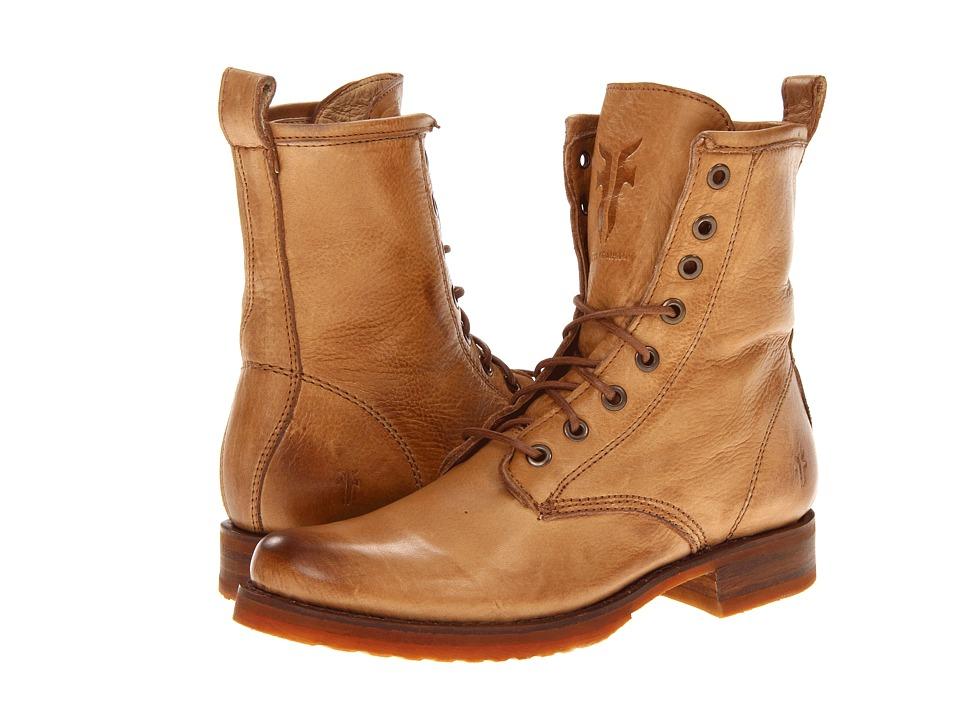 Frye Veronica Combat (Camel Soft Vintage Leather) Women