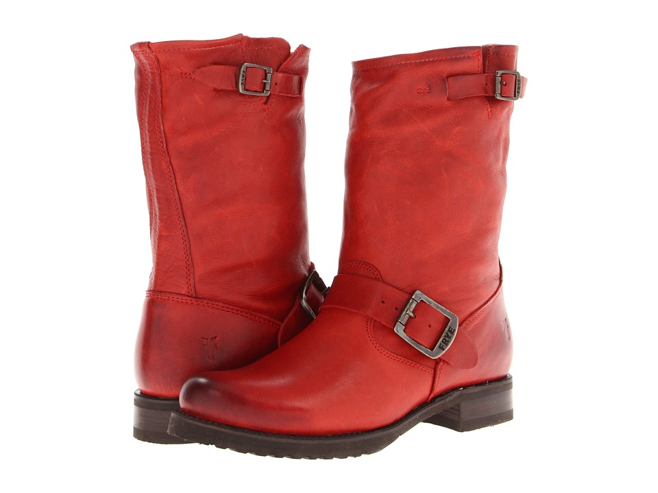 Frye Veronica Shortie (Burnt Red Soft Vintage Leather) Cowboy Boots