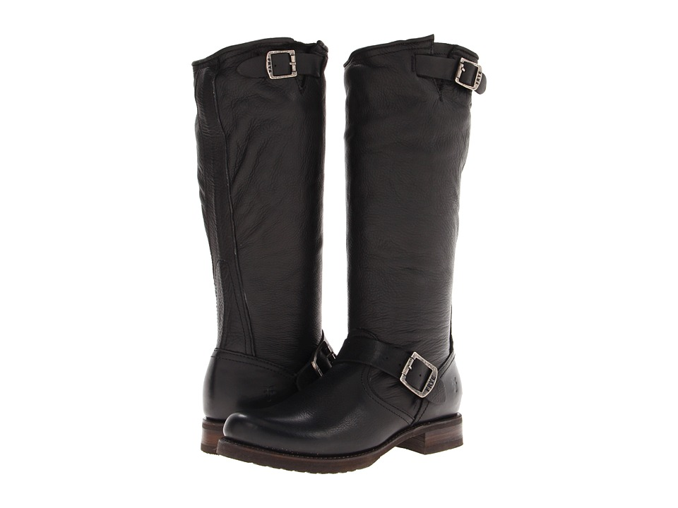 Frye - Veronica Slouch (Black Soft Vintage Leather) Women's Pull-on Boots