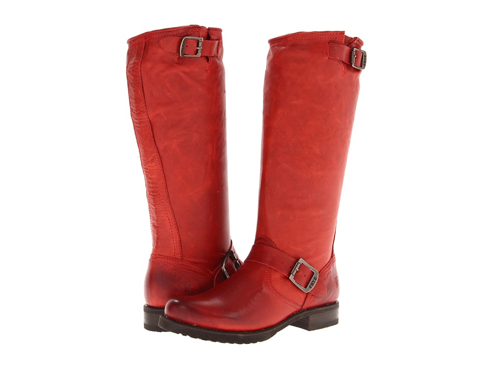 Frye - Veronica Slouch (Burnt Red Soft Vintage Leather) Women's Pull-on Boots