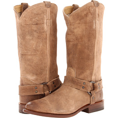 Frye Wyatt Harness (Light Taupe Distressed Nubuck) Footwear