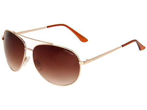 Calvin Klein - CWR114S (Golden) Metal Frame Fashion Sunglasses