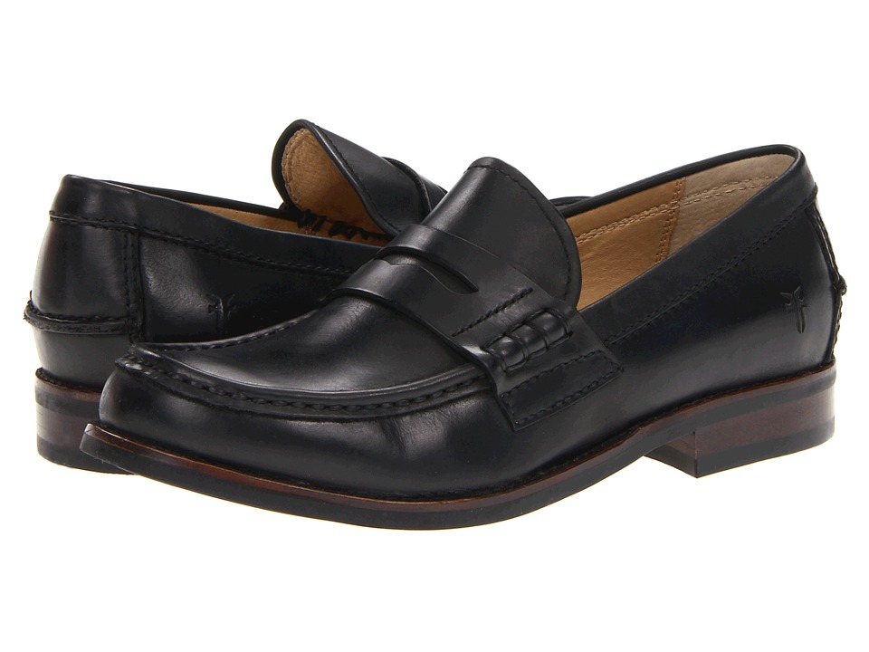 Frye - Greg Penny (Black Antique Pull Up) Men's Slip on Shoes