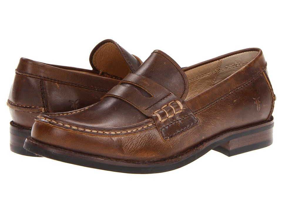 Frye - Greg Penny (Tan Antique Pull Up) Men's Slip on Shoes