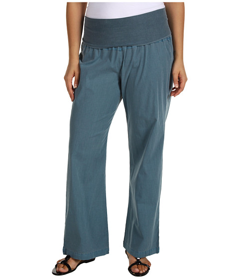 XCVI Plus Size Plus Size Fold-Over Palazzo (Baltic Blue) Women's Casual Pants