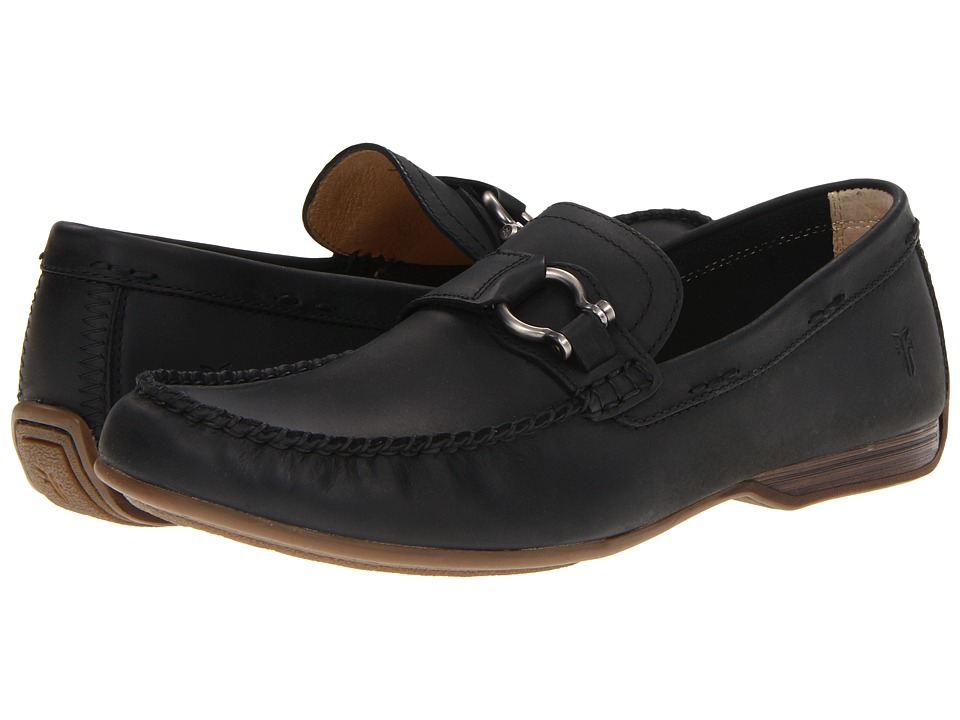Frye - Lewis Keeper (Black Antique Pull Up) Men's Slip on Shoes