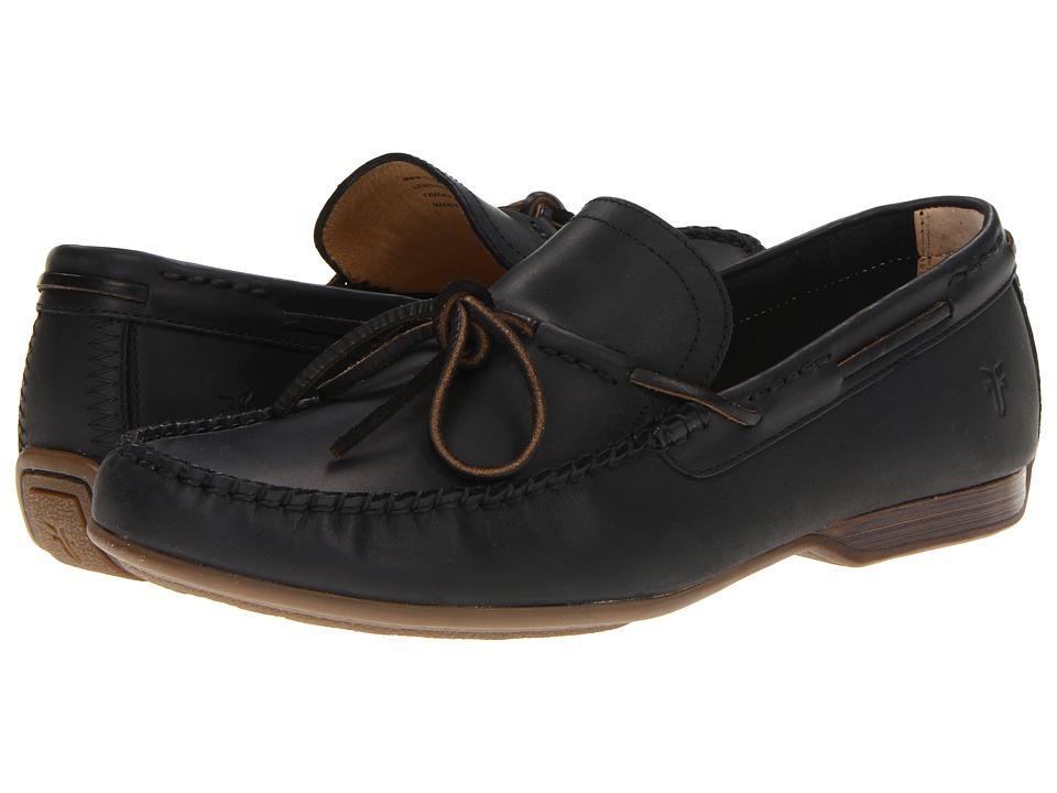 Frye - Lewis Tie (Black Antique Pull Up) Men's Lace up casual Shoes