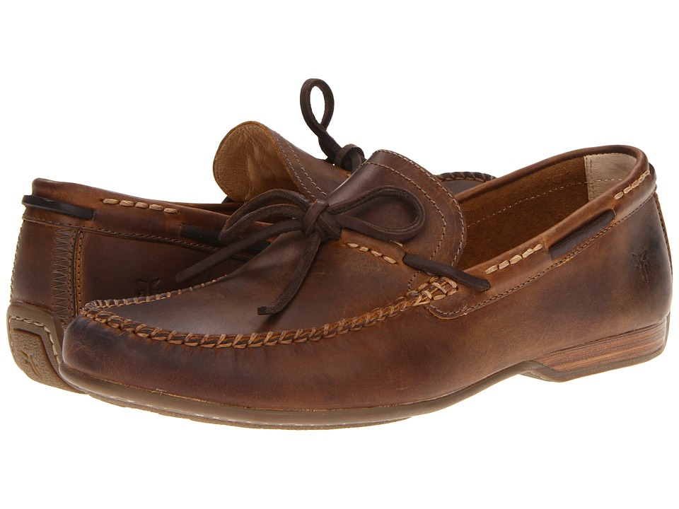 Frye - Lewis Tie (Tan Antique Pull Up) Men