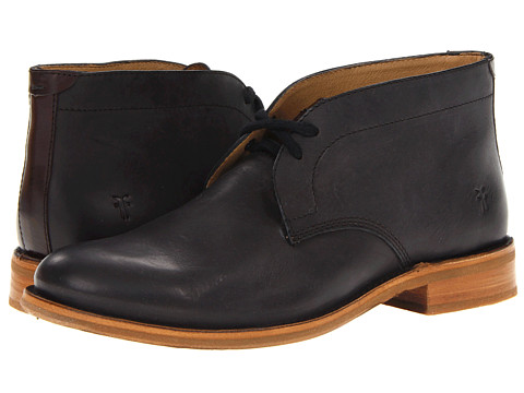 Frye - Willard Chukka (Black Burnished Vintage Leather/Soft Vintage Leather) Men's Lace-up Boots
