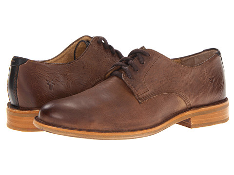 Frye - Willard Oxford (Dark Brown Burnished Vintage Leather/Soft Vintage Leather) Men's Lace up casual Shoes