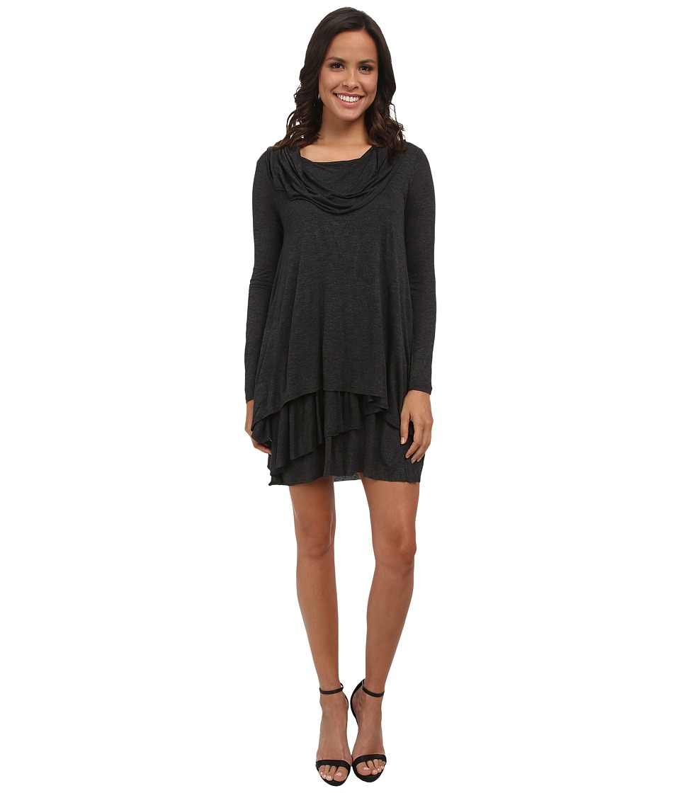 kensie Cowl Neck Dress (Heather Charcoal) Women
