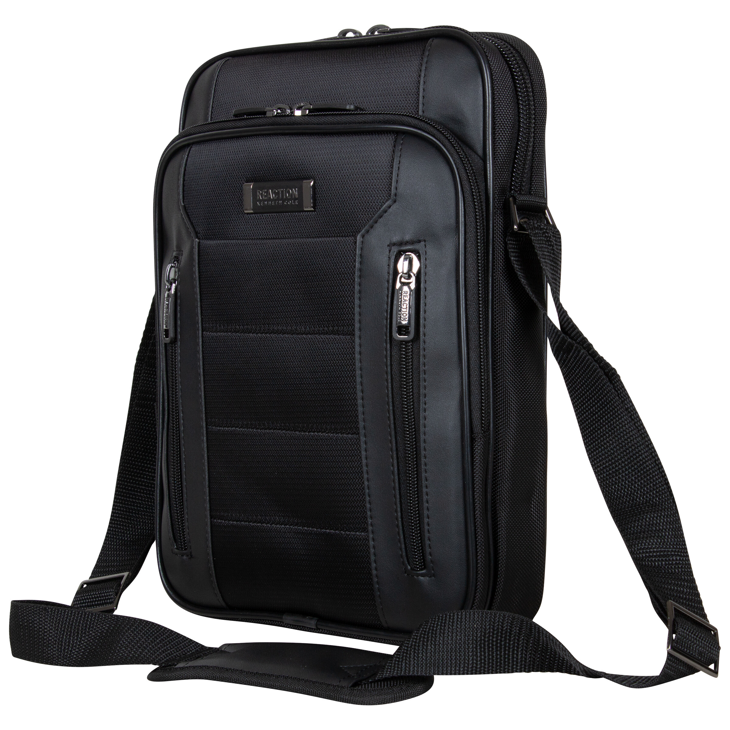Kenneth Cole Reaction Top Zip Day Bag/Tablet, Computer Case (Black) Day Pack Bags