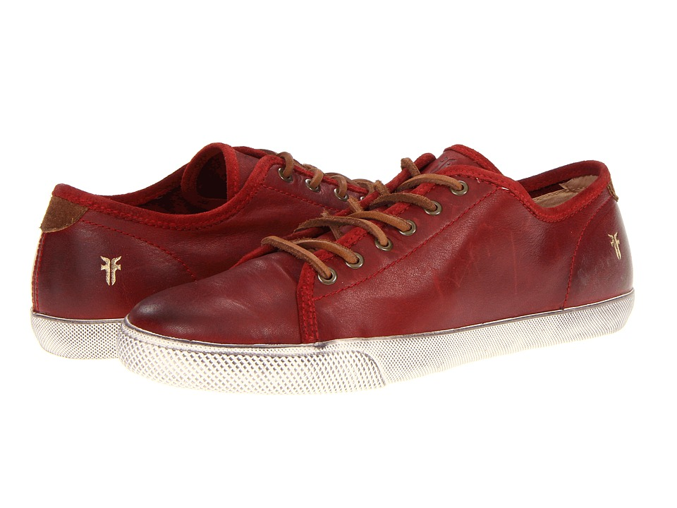 Frye - Chambers Low (Burnt Red Soft Vintage Leather) Men's Lace up casual Shoes