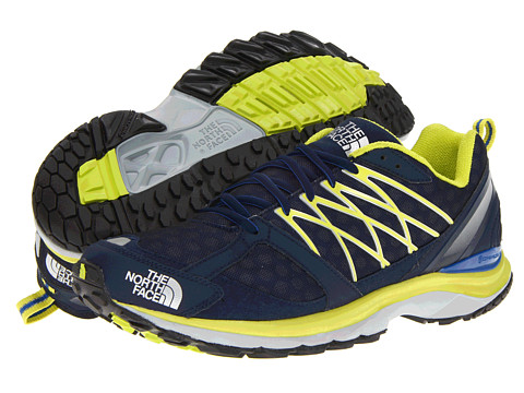 The North Face - Double-Track Guide (Nautical Blue/Sulphur Spring Green) Men