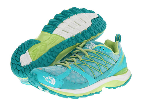 The North Face - Double-Track Guide (Ion Blue/Rave Green) Women's Running Shoes