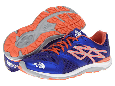 The North Face - Hyper-Track Guide (Moody Blue/Electro Coral Orange) Women's Running Shoes