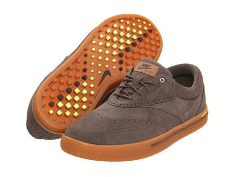 Nike - Lunar Swingtip - Suede (Ridgerock/Ridgerock/Gum Medium Brown/Volt) Men's Golf Shoes
