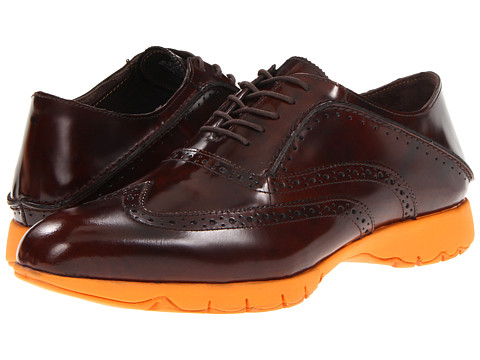 Hush Puppies - FIVE-Brogue (Brown Brush Off Leather) Men's Lace up casual Shoes