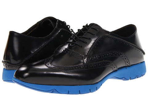 Hush Puppies - FIVE-Brogue (Black Brush Off Leather) Men