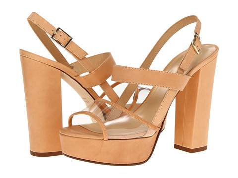 Kate Spade New York - Izzy (Natural Vacchetta/Clear) High Heels