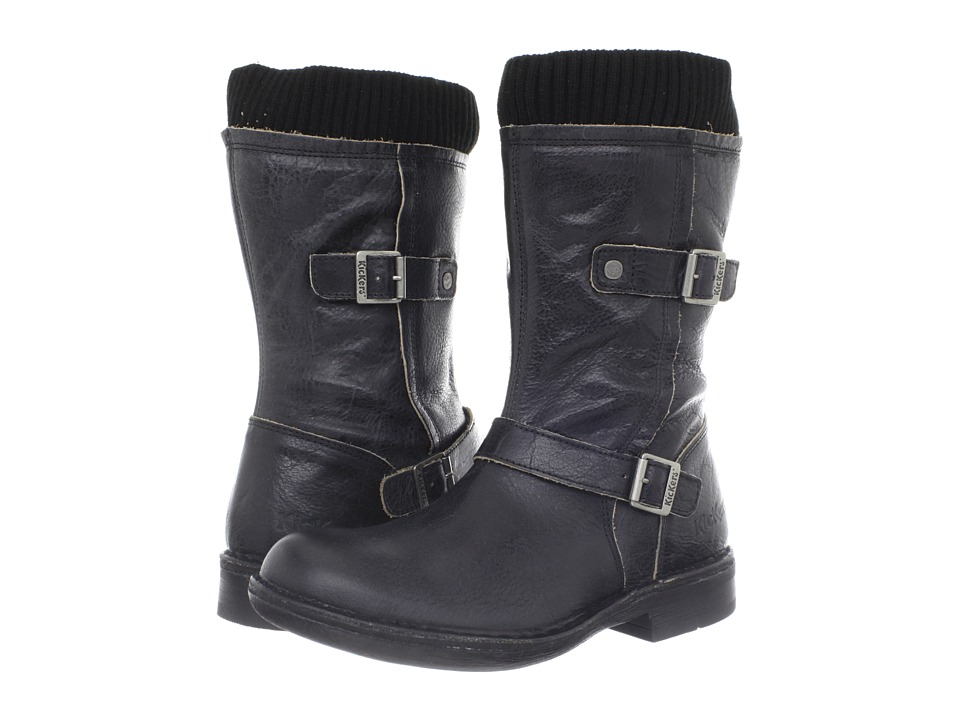 Kickers - Rock It (Black) Women's Zip Boots