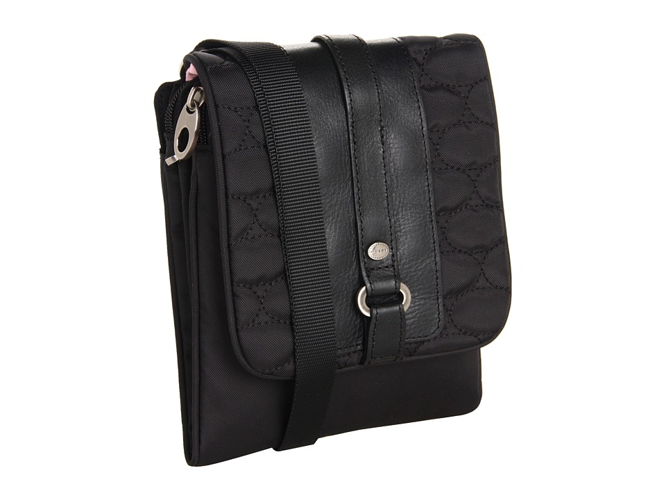 Mosey - Easy Flapper (Jet Black) Cross Body Handbags