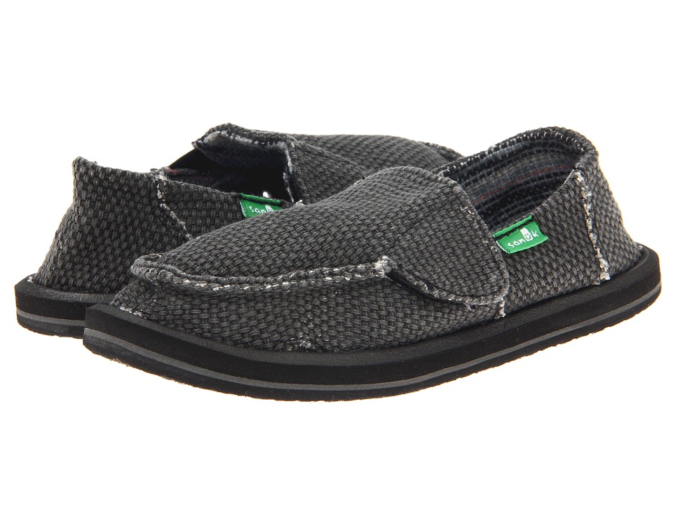 Sanuk Kids - Vagabond (Toddler/Little Kid) (Black) Boys Shoes