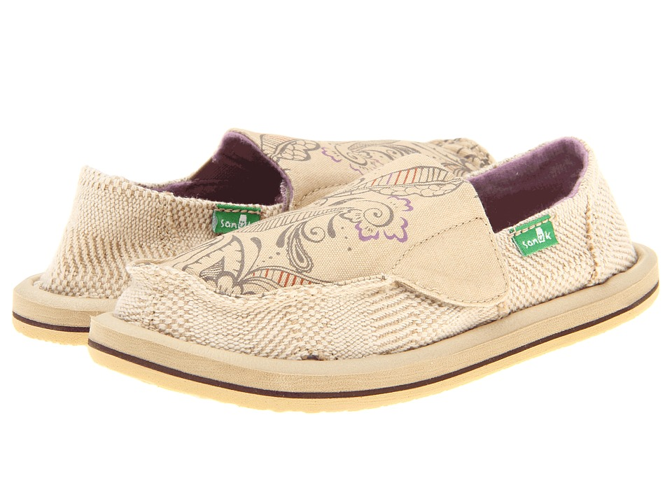 Sanuk Kids - Scribble (Toddler/Little Kid) (Tan) Girls Shoes