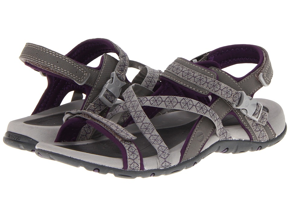 Hi-Tec - Premilla Strap (Grey/Wine) Women's Shoes