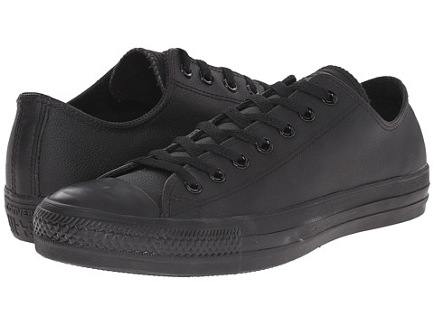 Converse - Chuck Taylor All Star Leather Ox (Black Monochrome) Shoes