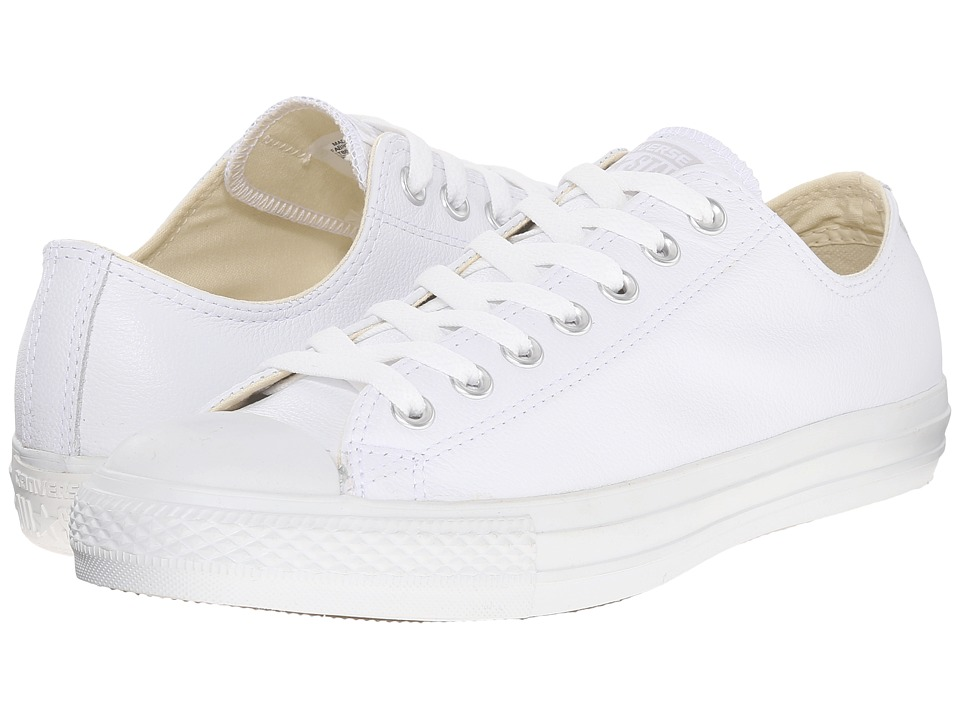 Converse Chuck Taylor All Star Leather Ox (White Monochrome) Shoes
