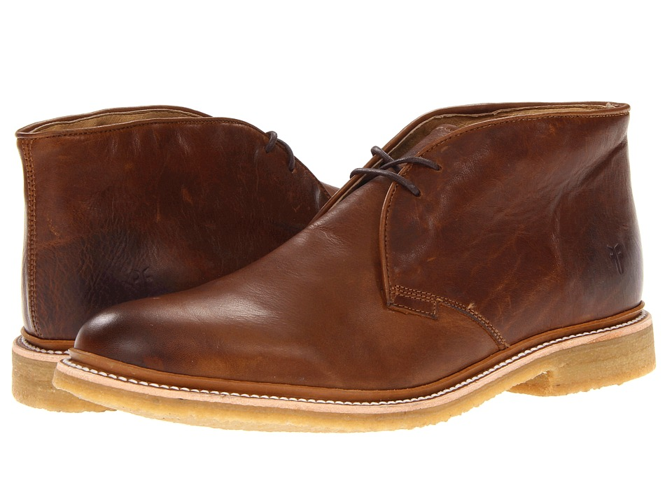 Frye - James Crepe Chukka (Cognac Soft Vintage Leather) Men's Lace-up Boots