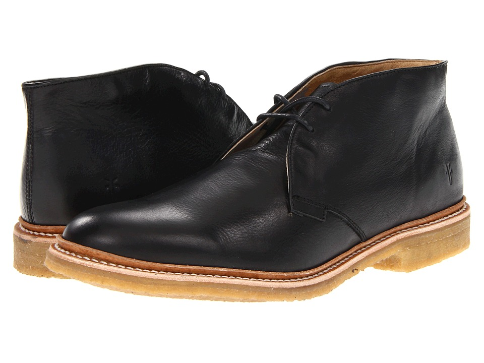 Frye - James Crepe Chukka (Black Soft Vintage Leather) Men's Lace-up Boots