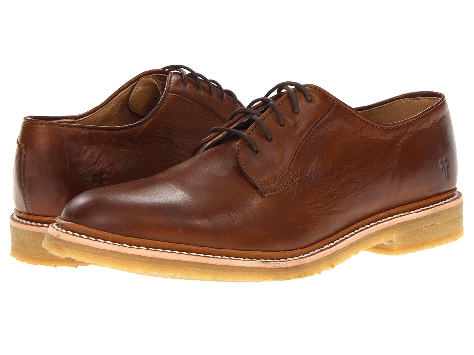 Frye - James Crepe Oxford (Cognac Soft Vintage Leather) Men's Lace up casual Shoes